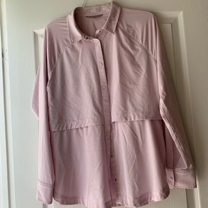 Athleta Northstar Button Down Shirt Relaxed Fit M